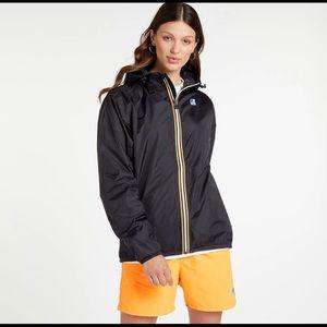 K-Way Original Black Windbreaker Waterproof Jacket